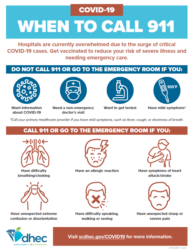 when to call 911 covid-19